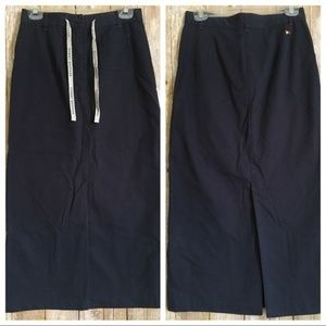 TOMMY HILFIGER Navy Straight Ankle Length Skirt